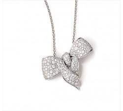 Collana Damiani Fiocco in oro bianco e diamanti