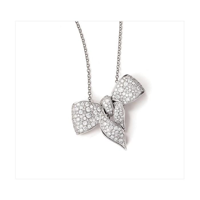 l'atteggiamento migliore c0203 69173 Collana Damiani Fiocco in oro bianco e diamanti