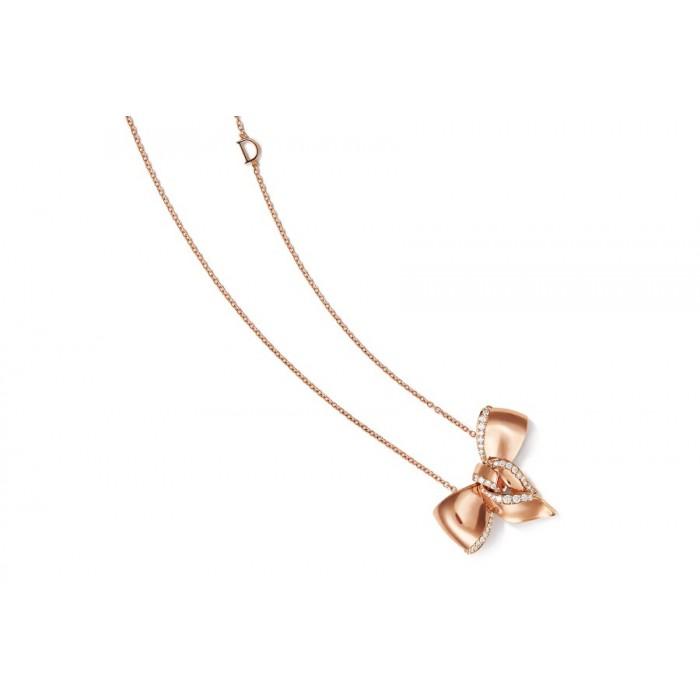Collana Damiani Fiocco in oro rosa e diamanti