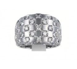 Anello Damiani Checkmate in oro bianco e diamanti