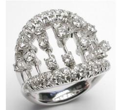 Anello Damiani Abacus in oro bianco e diamanti