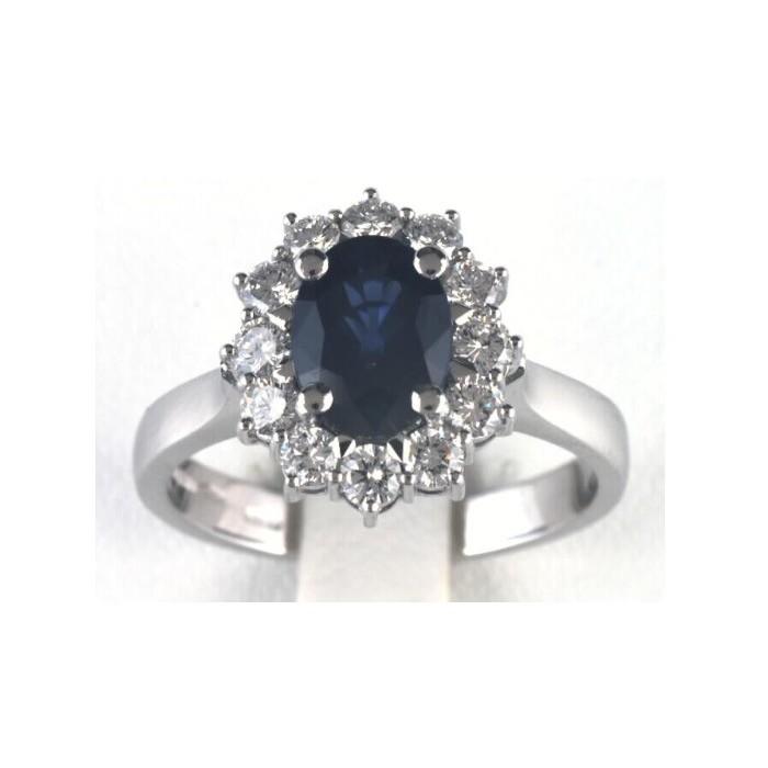 Anello Damiani con Diamanti e Zaffiri