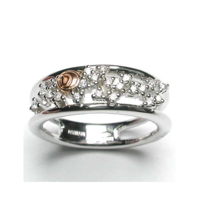 Anello Damiani Nair in oro bianco e diamanti