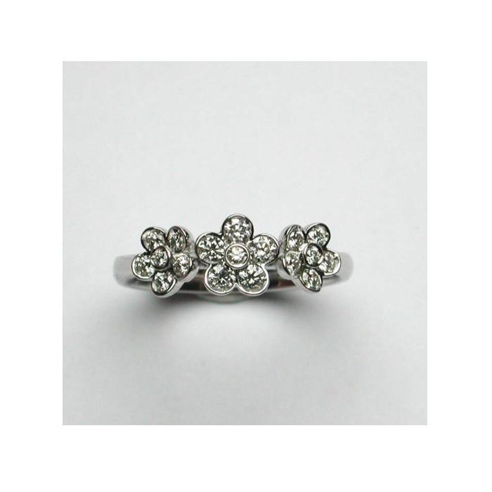 Anello Damiani Daisy in oro bianco e diamanti