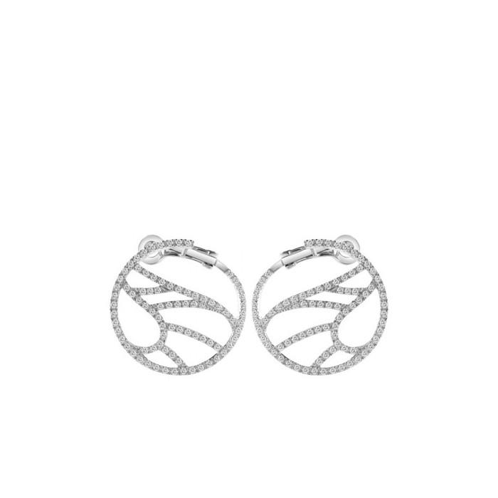 Orecchini Damiani Battito d'Ali in oro bianco e diamanti