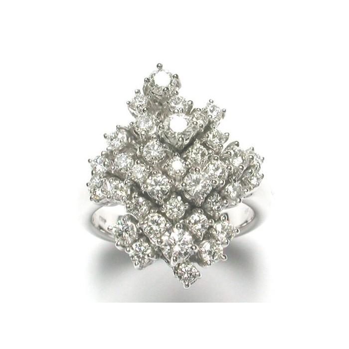 Anello Damiani Champagne in oro bianco e diamanti