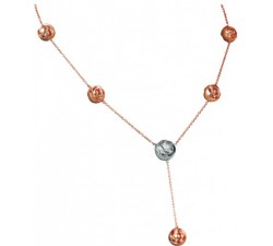 Collana Damiani Bocciolo in oro rosa e diamanti