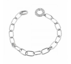 Silver necklace 80cm