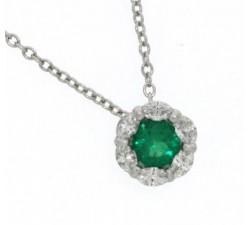 Collana Damiani Bucaneve con smeraldo e diamanti