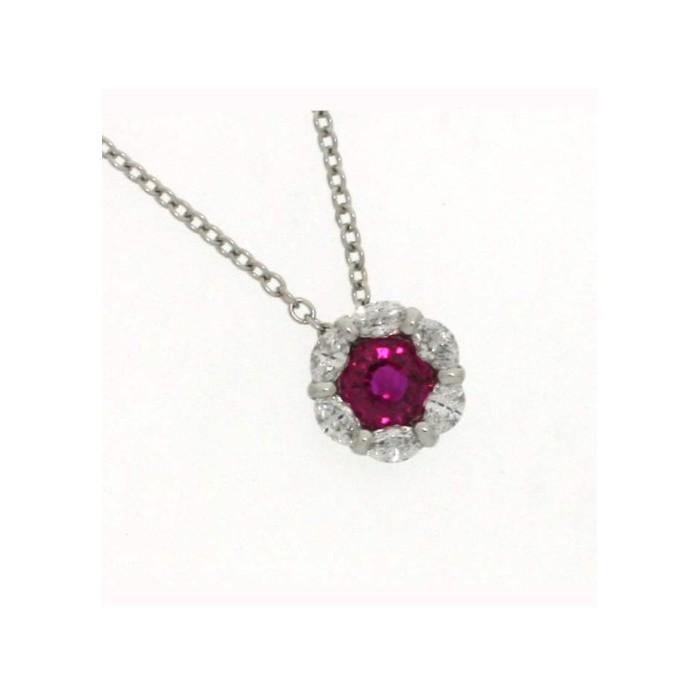 Collana Damiani Bucaneve con rubino e diamanti
