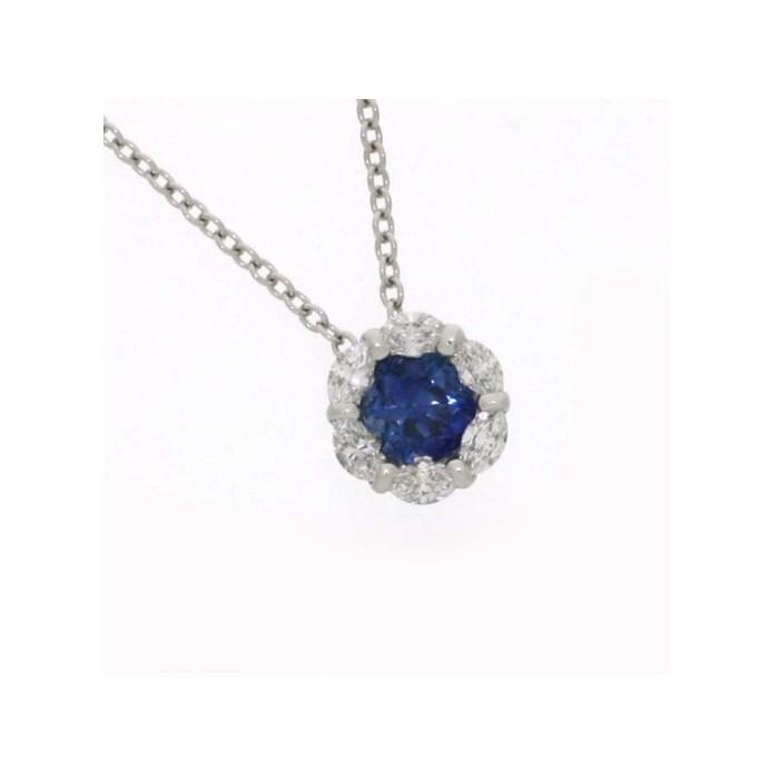 Collana Damiani Bucaneve con zaffiro e diamanti