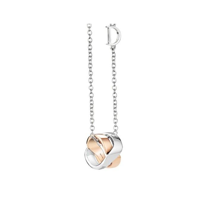 vendita outlet c9304 f3628 Collana Damiani Baci in oro bianco e rosa