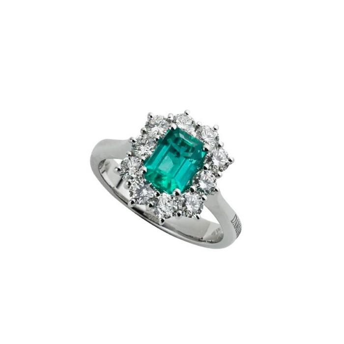 ineguagliabile nelle prestazioni la più grande selezione data di rilascio Anello Damiani con Smeraldo e Diamanti