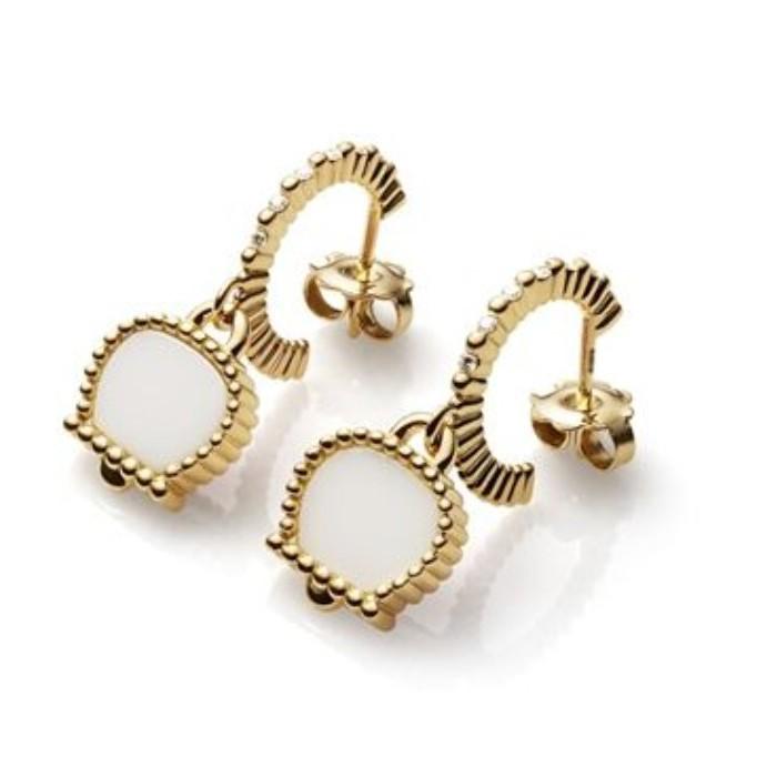 Orecchini Anima 70 in oro giallo con diamanti e kogolong