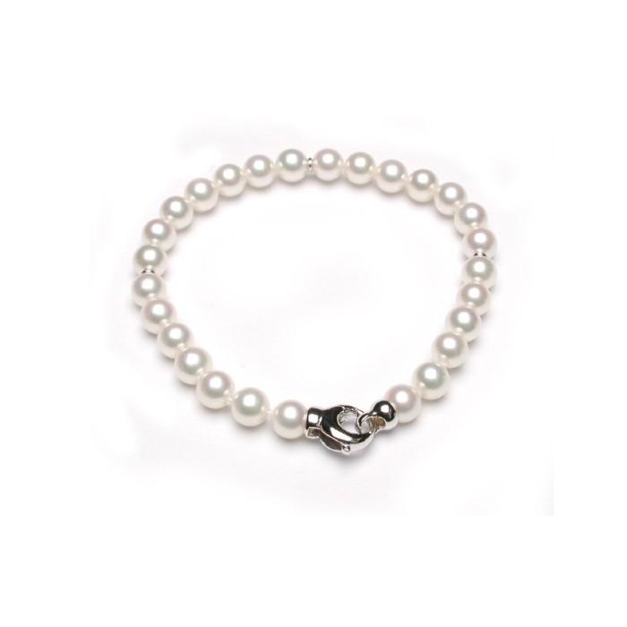 Bracciale Damiani perle giapponesi e oro bianco
