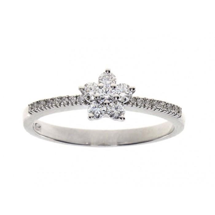 Anello Damiani Stella in oro bianco e diamanti