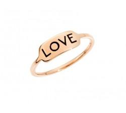 Anello 100% amore con rubino