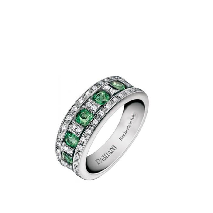 Anello Damiani Belle Epoque con Diamanti e Smeraldi