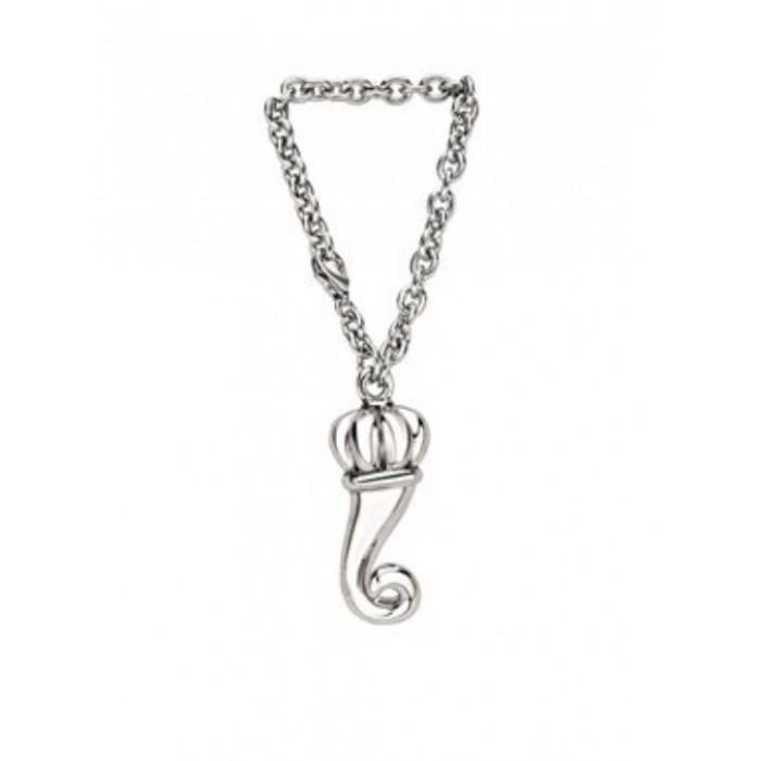 Portachiavi cornetto in argento