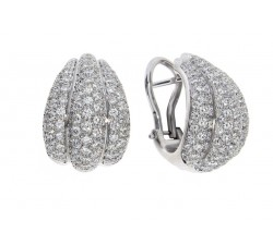 Orecchini Damiani Spicchi di Luna in oro bianco e diamanti