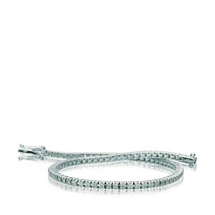 Diamanti Bracciale Oro Tennis In Con Bianco nwvmN80