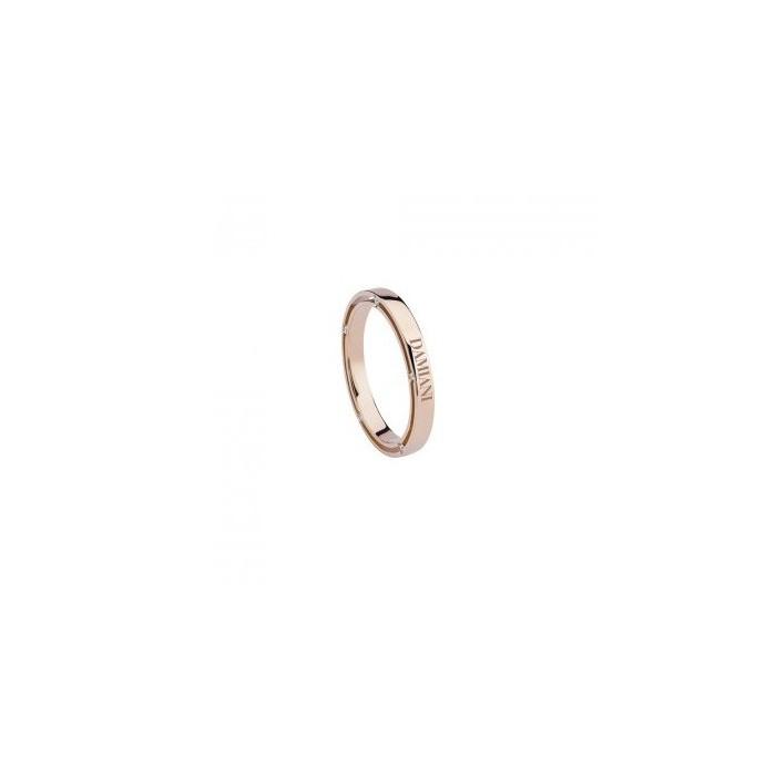 D.SIDE - Fede nuziale in oro rosa con diamanti