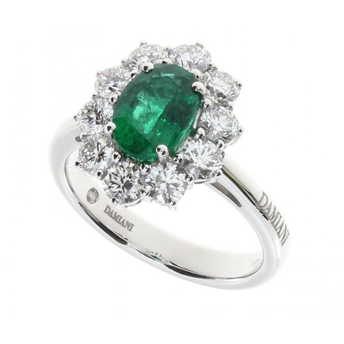 Anello Damiani con Smeraldo e Diamanti