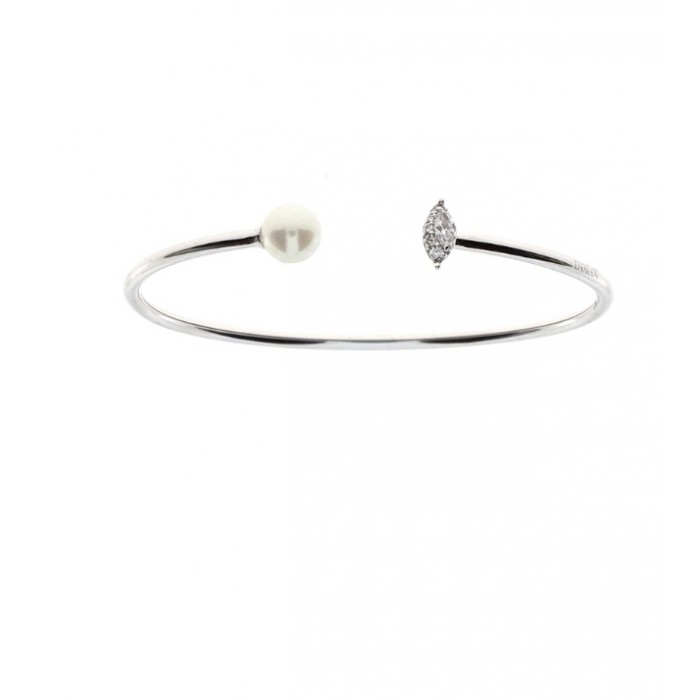 vendita calda online 97126 c1cd3 Bracciale Damiani Emozioni in oro bianco con perla e diamanti