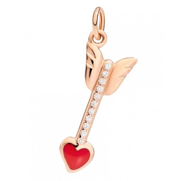 Freccia oro rosa diamanti bianchi e smalto