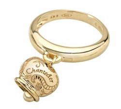 Anello in campanella in oro con turchese