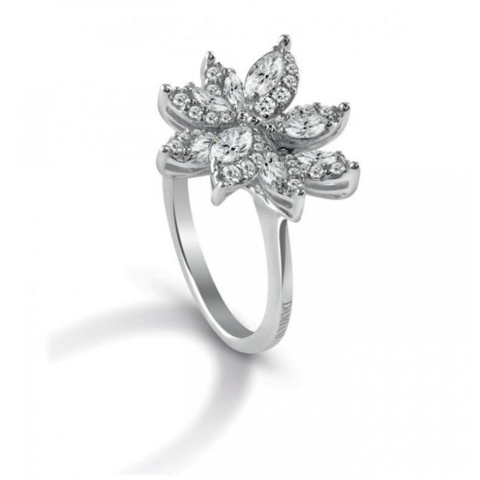 Anello Damiani Emozioni in oro bianco e diamanti
