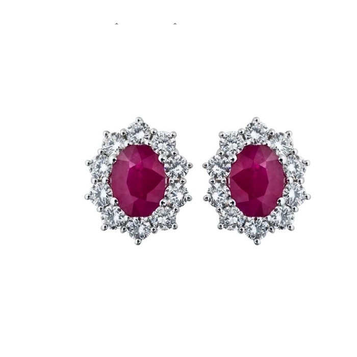 Orecchini Damiani con Diamanti e Rubino