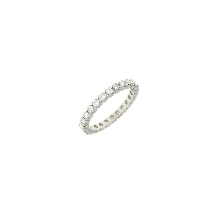 Anello Eternity in oro bianco con diamanti
