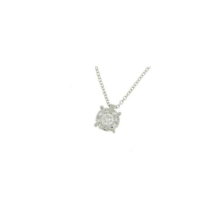 copy of Orecchini fiore in oro bianco con diamanti
