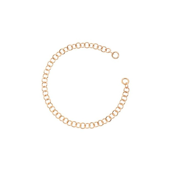 Bracciale catena leggera oro rosa