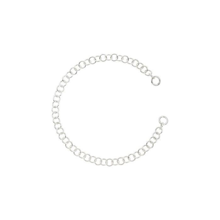 Bracciale catena leggera in argento