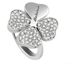 Anello Quadrifoglio con diamanti