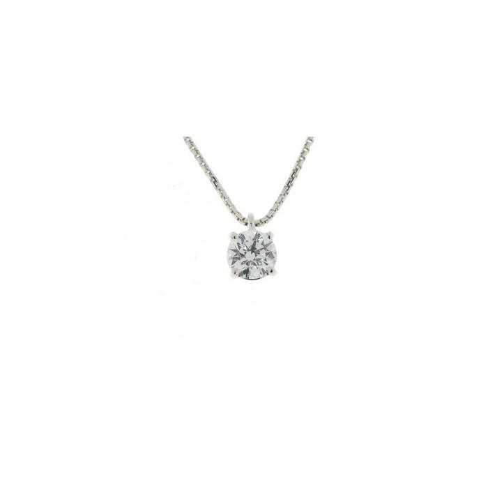 Collana punto luce in oro bianco con diamante