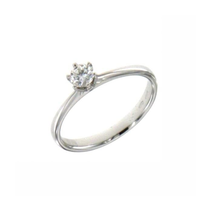 D.SIDE - Fede nuziale in oro bianco con diamanti