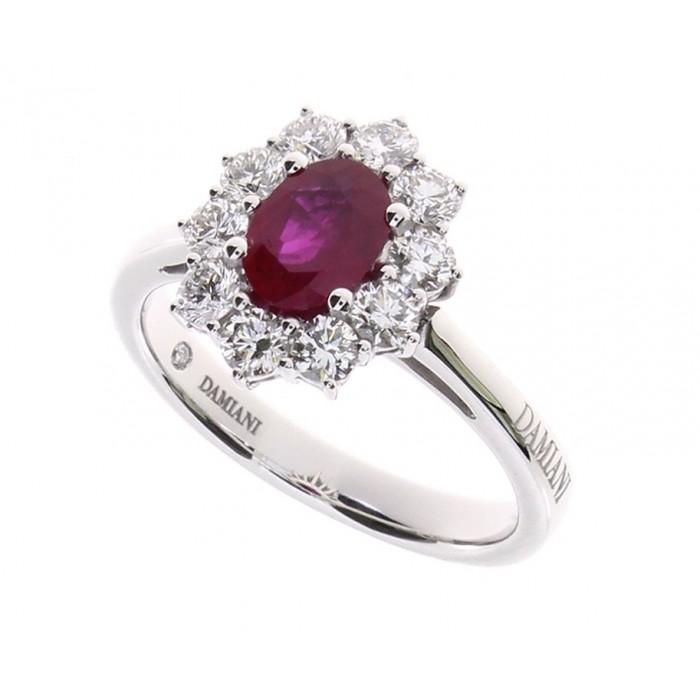 Anello Damiani con Diamanti e Rubino