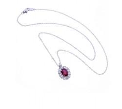 Collana Damiani  Diamanti e Rubino