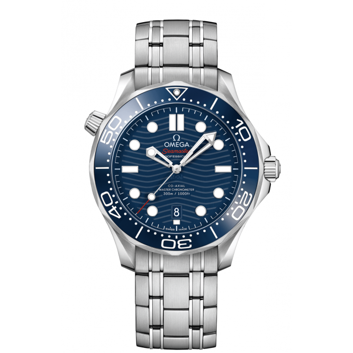 SEAMASTER DIVER 300M OMEGA CO‑AXIAL MASTER CHRONOMETER 42 MM BLU ACCIAIO ACCIAIO