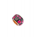 Collier Paillettes in oro rosa e diamanti