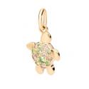 Collier fiore in oro bianco con smeraldo e diamanti
