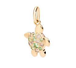 Collier in oro bianco con smeraldo e diamanti