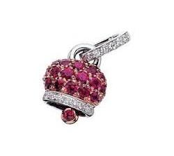 Ciondolo campanella con rubini