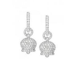 Orecchini campanelle in oro con diamanti