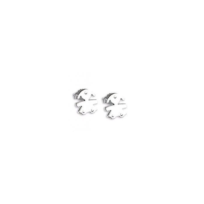 Orecchini femminuccia oro bianco