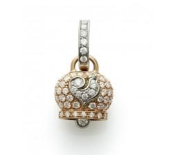 Ciondolo campanella con diamanti