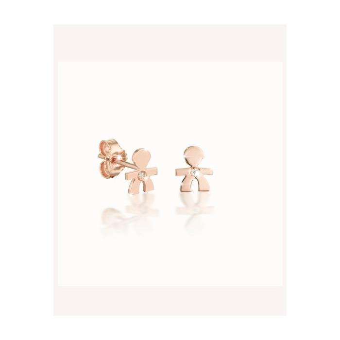 Mono orecchino le briciole maschietto rosa